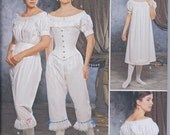 Simplicity 1139 Victorian Civil War Undergarments Chemise Drawers Corset UNCUT Sewing Pattern