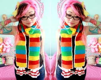 Rainbow Tart Candy Scarf - Made to Order