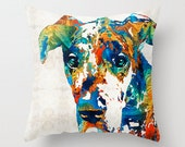 Great Dane Pillow COVER Art Dog Pet AKC Puppy Black Blue Fawn Harlequin Merle Decor Artsy Decorating Made Easy Living Room Bedroom Bedding