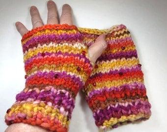 SeeJayneKnit Mitts (Handspun Yarn) -- I Wear My Heart on My Mitts