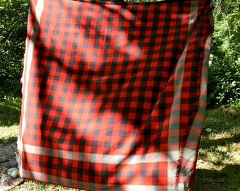 Plaid Wool Victorian Carriage Blanket