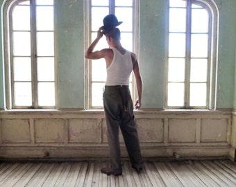Men's Bowler Hat Size 7-1/8 Wormser Hatters