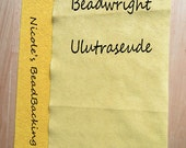 Ultrasuede with FREE Nicoles BeadBacking Great Combo for Beading  Shades of yellow