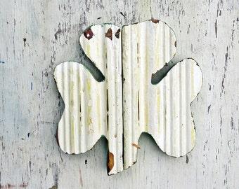Wood Shamrock, Irish Decor, Reclaimed Wood Decor, Wood Wall Shamrock, Celtic Decor, Nursery Decor, Distressed Shamrock, Irish Wall art