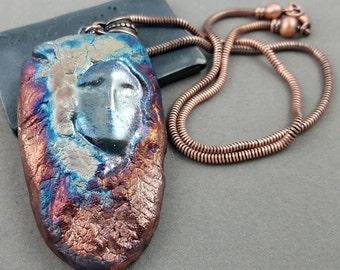 Raku Faery Pendant Necklace