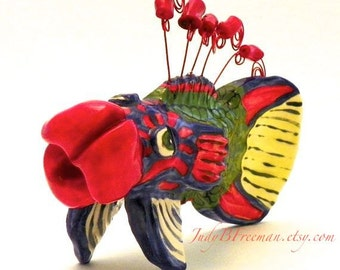 Ceramic Fish Photo Holder and Tabletop Sculpture Made to Order FSS005