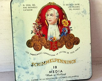 Vintage Schimmelpenninck Dutch Cigars Cigarette Tin Box Made in Holland