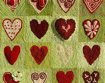 RUGHOOKING_Sixteen Hearts