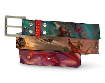 Intergalatic Civil War Leather Belt, War Leather Belt, Civil War Belt, Intergalatic Leather Belt