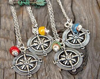 Boho Chic Compass Necklace