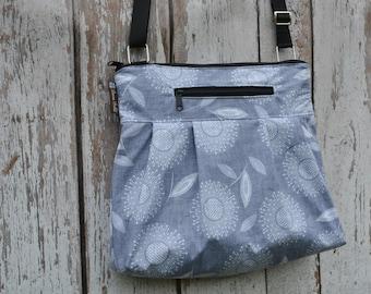 iPad Purse Kindle Handbag - Shoulder Bag Purse - Fast Shipping - Padded Electronics Tablet Pocket MEDIUM HOBO BAG Dandelion Wishes Fabric