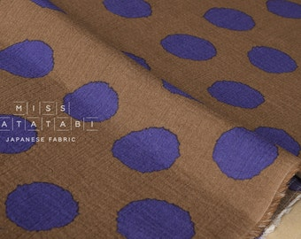 Japanese Fabric Kokka big dots gauze - D - 50cm