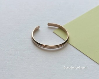 14K Yellow Gold Fill Toe Ring- Half Round -1.5mm