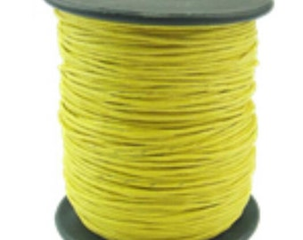 1 roll 80 yards Waxed Polyester Cord in yellow -8992C