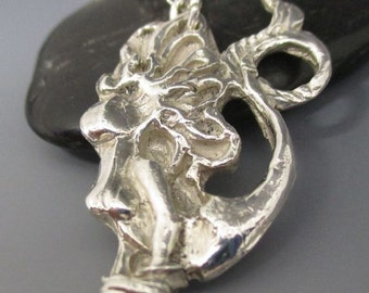 Fine Silver Mermaid Necklace