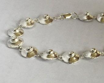 Silver Bracelet Unique Sea Shell Bracelet