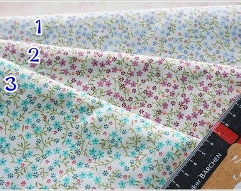 Beautiful Tiny Floral Cotton Fabric 3 tones to choose ( Half Yard )