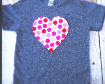 Valentine's Day big red pink Heart love you T Shirt Applique- Kids Boys Girls Matching Twins Big Bro Lil Sis red white hearts children baby