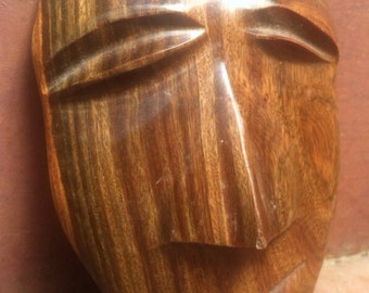 Vintage Mid Century Carved Wood Tiki Mask epsteam Decor