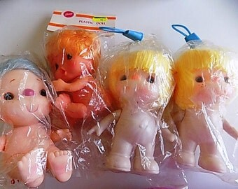 Vintage Plastic Baby Doll Lot with Yarn Hair