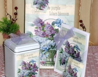 Lilac Gift Bag Set