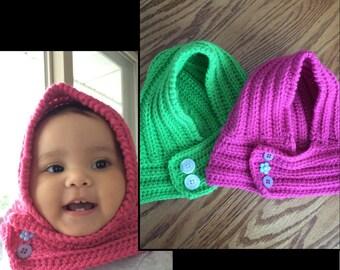Crochet Baby Hooded Scarf