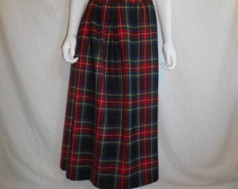 Wool Skirt tartan plaid