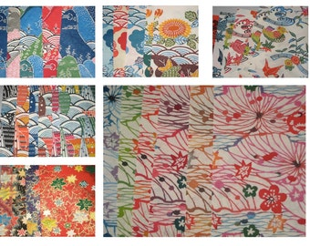 Vintage Japanese Washi Yuzen Paper Sample Book out of production