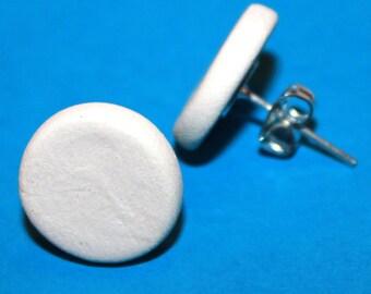 Blank Bisque Teeny Circle Post Earrings