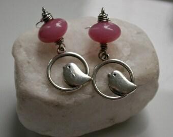 Pink Tweet Tweet Earrings
