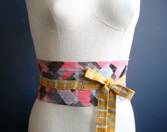 Forever Young - iheartfink Handmade Hand Printed OOAK Unique Wearable Art Accessory Jersey Obi Belt