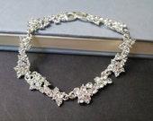 Bridal Bracelet, Wedding Bracelet, Crystal Bracelet Wedding Jewelry, Bridesmaid Bracelet, Crystal Bridal Jewelry, Art Deco Wedding Jewelry