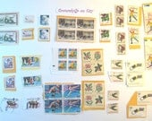 custom for Andrea - 50 used postage stamps
