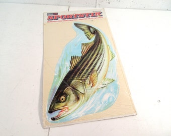 Vintage fish decal, Decal Art clear vinyl trout fish decal