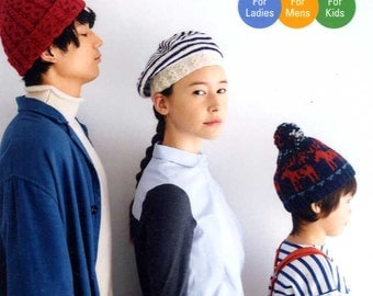 55 Knit and Crochet Caps and Hats - Japanese Craft Book