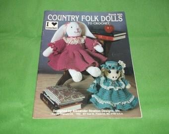 Country Folk Dolls to Crochet Pattern book