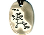 Darwin Tree Ceramic Necklace in Gray