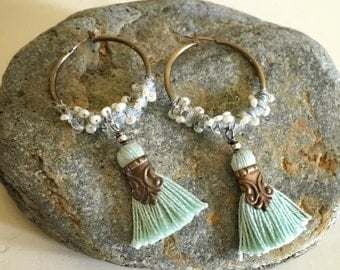 Seafoam Wanderlust Hoop Earrings