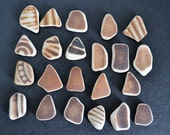 22 pieces of smooth beach pottery BPL12