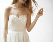 Silk and Lace Gown--Sample Sale--Size 8