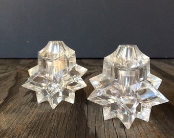 Mid Century Star Shaped Salt and Pepper Set - Made in Hong Kong