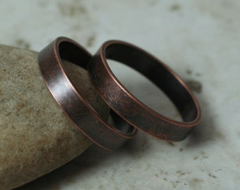 Antique copper band ring blank, one piece (item ID FA00098AC)