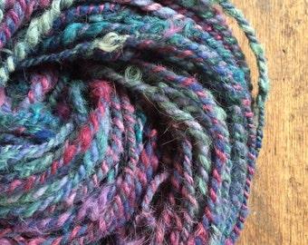 Disenchanted two ply llama cvm wool handspun chunky yarn 126 yards