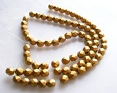 Matte Gold Faceted Beads 6mm Rounds Czech Glass Jewelry Supplies