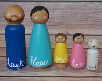 Custom Dollhouse Family // Dollhouse Family // Nontoxic Toys // Waldorf Toys // Rainbow Family