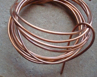 12 Gauge 100% Bare Bright Copper Wire 9 Feet for Jewelry Supply and Craft Projects Vintage Industrial Salvage