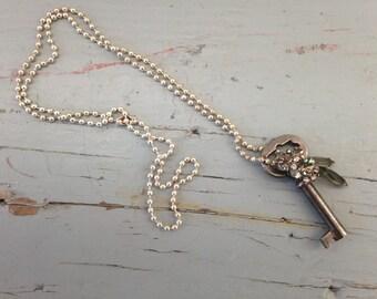 Vintage Bling Key Necklace