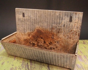 Free Shipping Vintage rusty bin feeder  storage display  and organization industrial Farmhouse