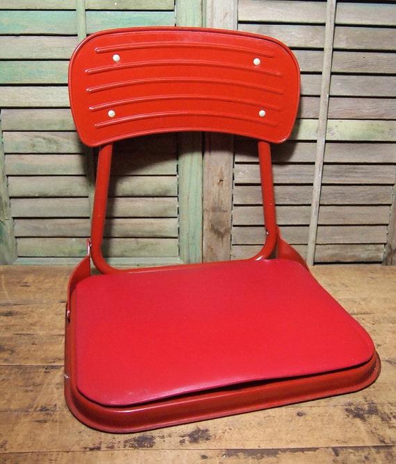 Metal Stadium Seats : Folding red stadium bleacher seat l retro football cool and