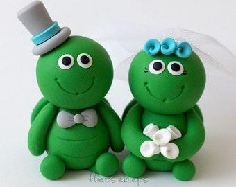 Custom Turtle Wedding Cake Topper